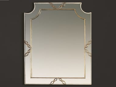 Rectangular framed wall-mounted wrought iron mirror HF2006MI | Mirror