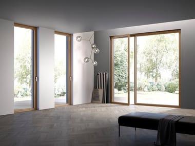 With concealed fittings wooden patio door HIDDEN WOOD