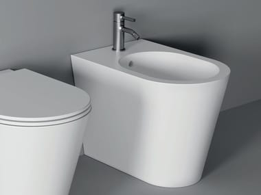 Floor mounted ceramic bidet HIDE | Floor mounted bidet