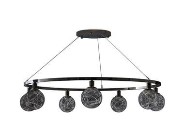 Lampada a sospensione a LED a luce diretta in vetro di Murano HIGGS | Lampada a sospensione