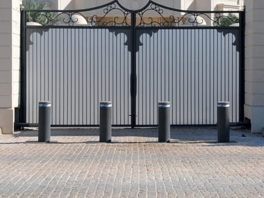 Retractable cylindrical electric bollard HIGH SECURITY LINE