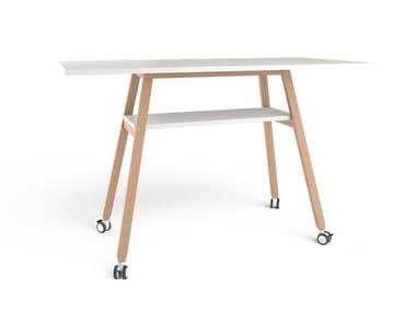 Tavolo da riunione rettangolare HIGH TABLE