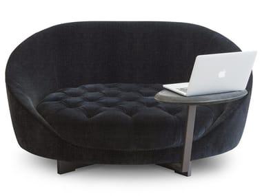 Tufted fabric small sofa HILL