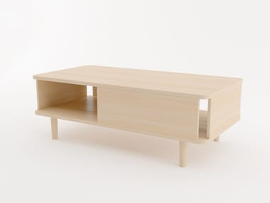 Rectangular coffee table with storage space HILLEN | Coffee table