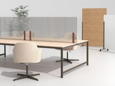 Pannello divisorio da scrivania in policarbonato HINOKI | Pannello divisorio da scrivania