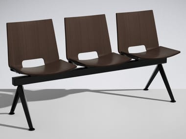 Beam seating with tip-up seats HL³ | Beam seating