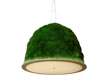 Pendant lamp with cushion moss HOBBIT