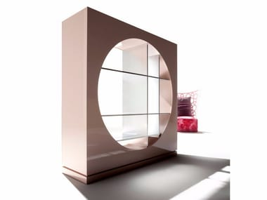 Open divider bookcase HOLE