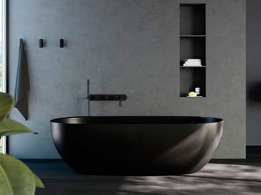 Freestanding oval bathtub HOLE | Bathtub