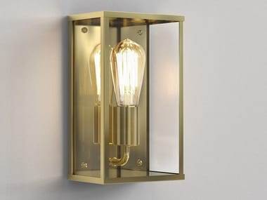 Brass and glass wall lamp HOMEFIELD COASTAL