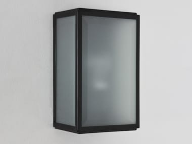 Direct-indirect light stainless steel wall lamp HOMEFIELD FROSTED