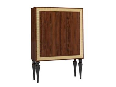 Wood veneer bar cabinet HONEY | Bar cabinet