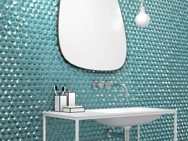 Glass mosaic HONEY DIAMOND