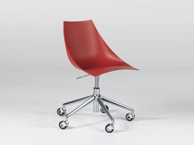 Height-adjustable task chair with 5-Spoke base with casters HOOP DESK