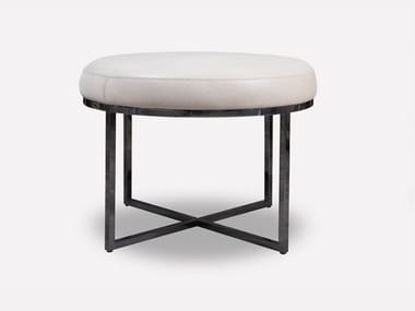 Low upholstered leather stool HOPE | Stool