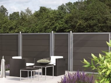 Modular screening Fence HORIZEN® COMPOSITE DESIGN ALU PANEL