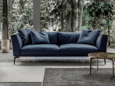 3 seater leather sofa HORIZON