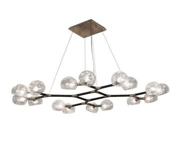 Glass pendant lamp HORUS II