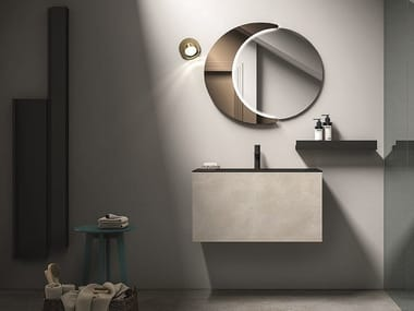 Wall-mounted vanity unit with drawers with towel rail HOSOI COMP. 2