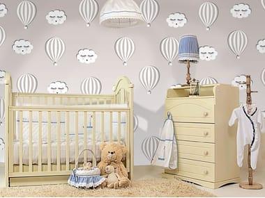 Adhesive washable kids wallpaper HOT AIR BALLOONS
