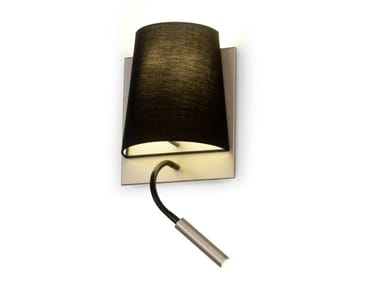 Cotton wall lamp with swing arm HOTEL | Reading lamp