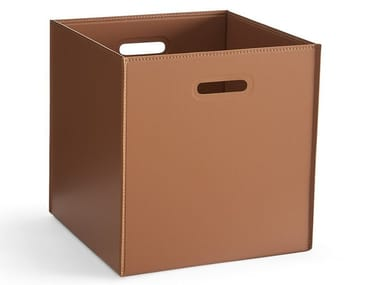 Tanned leather storage box HOTELLO | Tanned leather storage box
