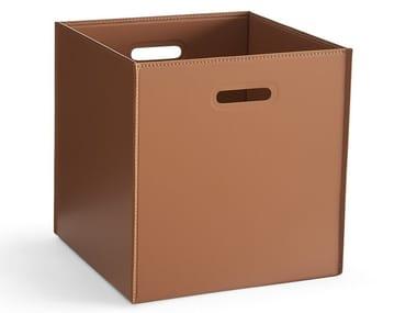 Boîte de rangement en cuir tannée HOTELLO | Boîte de rangement en cuir tannée