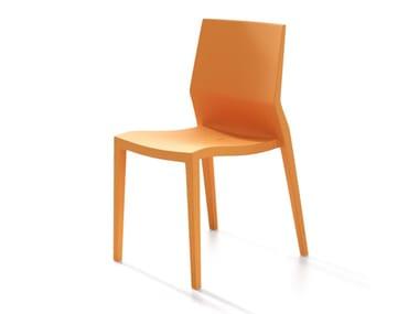 Sedia impilabile in polipropilene HOTH | Sedia