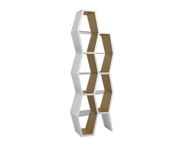 Open lacquered bookcase HOUDI JHD212