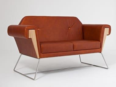 2 seater leather sofa HOVE CLUB | Leather sofa