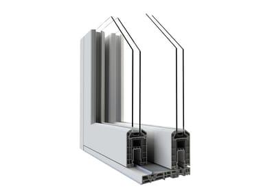 Porta-finestra alzante scorrevole complanare in PVC con doppio vetro HST VISION