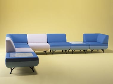 Upholstered modular sofa HUDDLE | Modular sofa