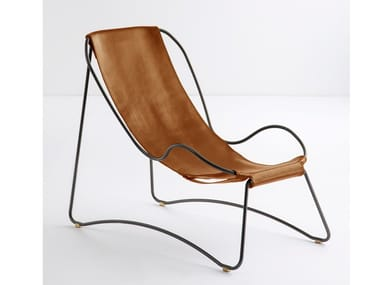 Tanned leather Chaise longue HUG | Chaise longue