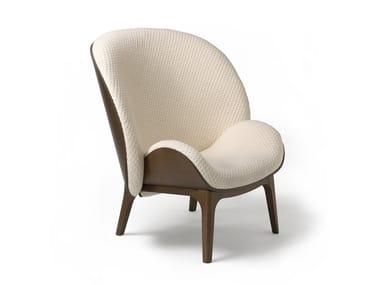 Bergere fabric armchair HUG