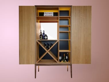 Wooden bar cabinet HUGH