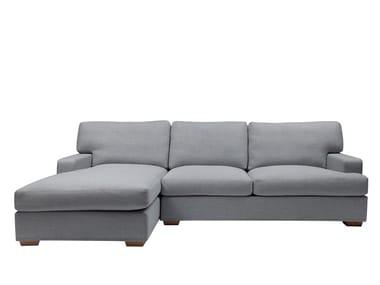 Fabric sofa with chaise longue HUGO | Sofa with chaise longue