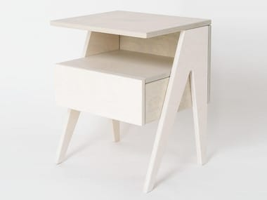 Plywood bedside table with drawers HUH | Bedside table