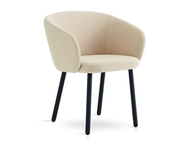 Upholstered fabric chair with armrests HUMA | Upholstered chair