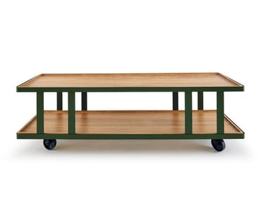 Rectangular coffee table with casters HUTCH | Coffee table
