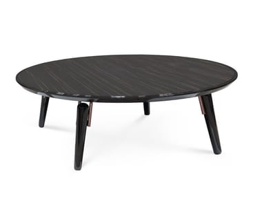 Round wooden coffee table for living room HYDE | Round coffee table