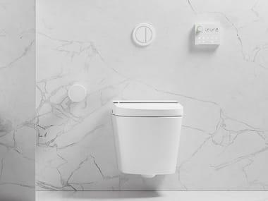 Hängendes spülrandloses WC mit Bidet HYGEA