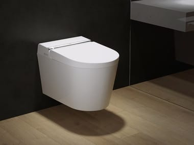 Vitreous China smart toilet with thermosetting seat HYGEA