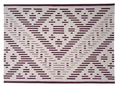 Handmade rectangular wool rug with geometric shapes HYPER