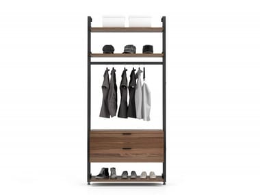 Wall-mounted aluminium hallway unit GRAVITY | Hallway unit