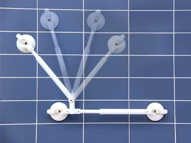 L-shaped plastic grab bar Hand rail with angle adjustment
