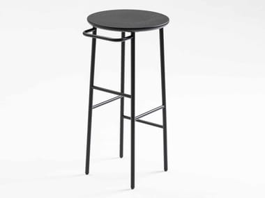 High lacquered wooden stool HANG TALL