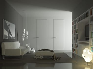 Hinged flush-fitting door without frame Hinged door
