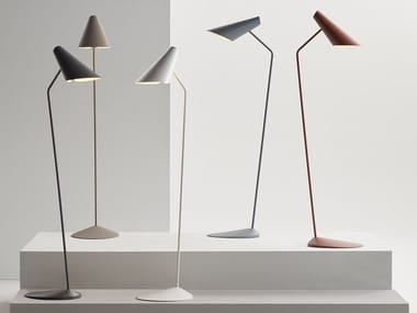 Polycarbonate floor lamp I.CONO 0712