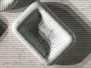 Lavabo da appoggio rettangolare in marmo di Carrara I GESSATI | Lavabo rettangolare