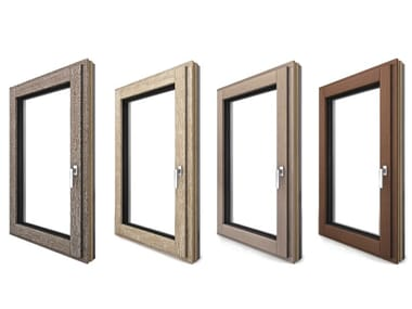 Aluminium and wood patio door I-TEC CORE